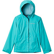 Columbia Girls' Arcadia Rain Jacket in Bright Aqua