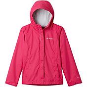 Columbia Girls' Arcadia Rain Jacket in Cactus Pink