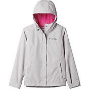 Columbia Girls' Arcadia Rain Jacket in Silver Grey