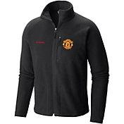 Columbia Men's Manchester United Fast Trek Black Full-Zip Fleece Jacket