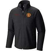 Columbia Men's Manchester United Ascender Black Full-Zip Softshell Jacket