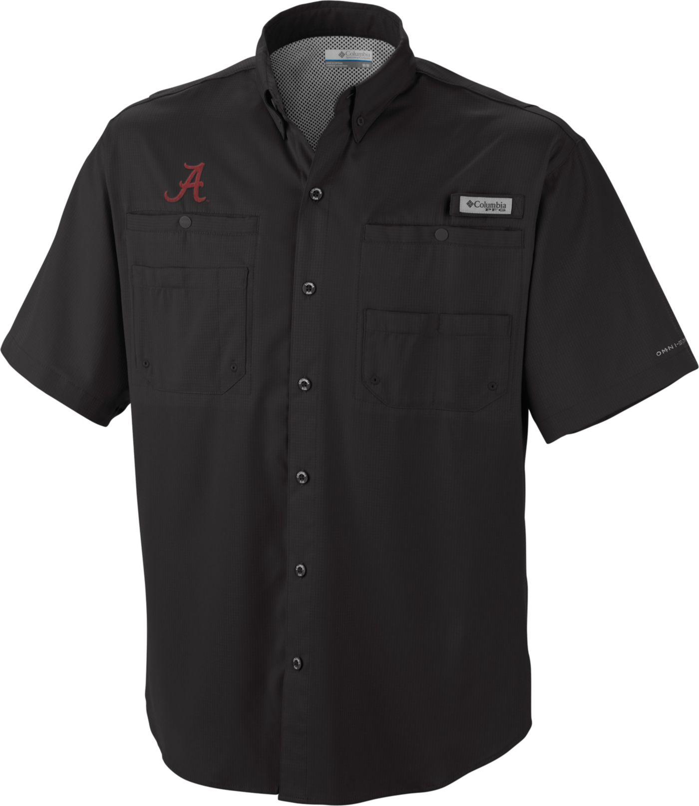 Columbia Men's Alabama Crimson Tide Black Tamiami Performance Shirt