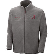 Columbia Men's Alabama Crimson Tide Grey Flanker II Full-Zip Fleece