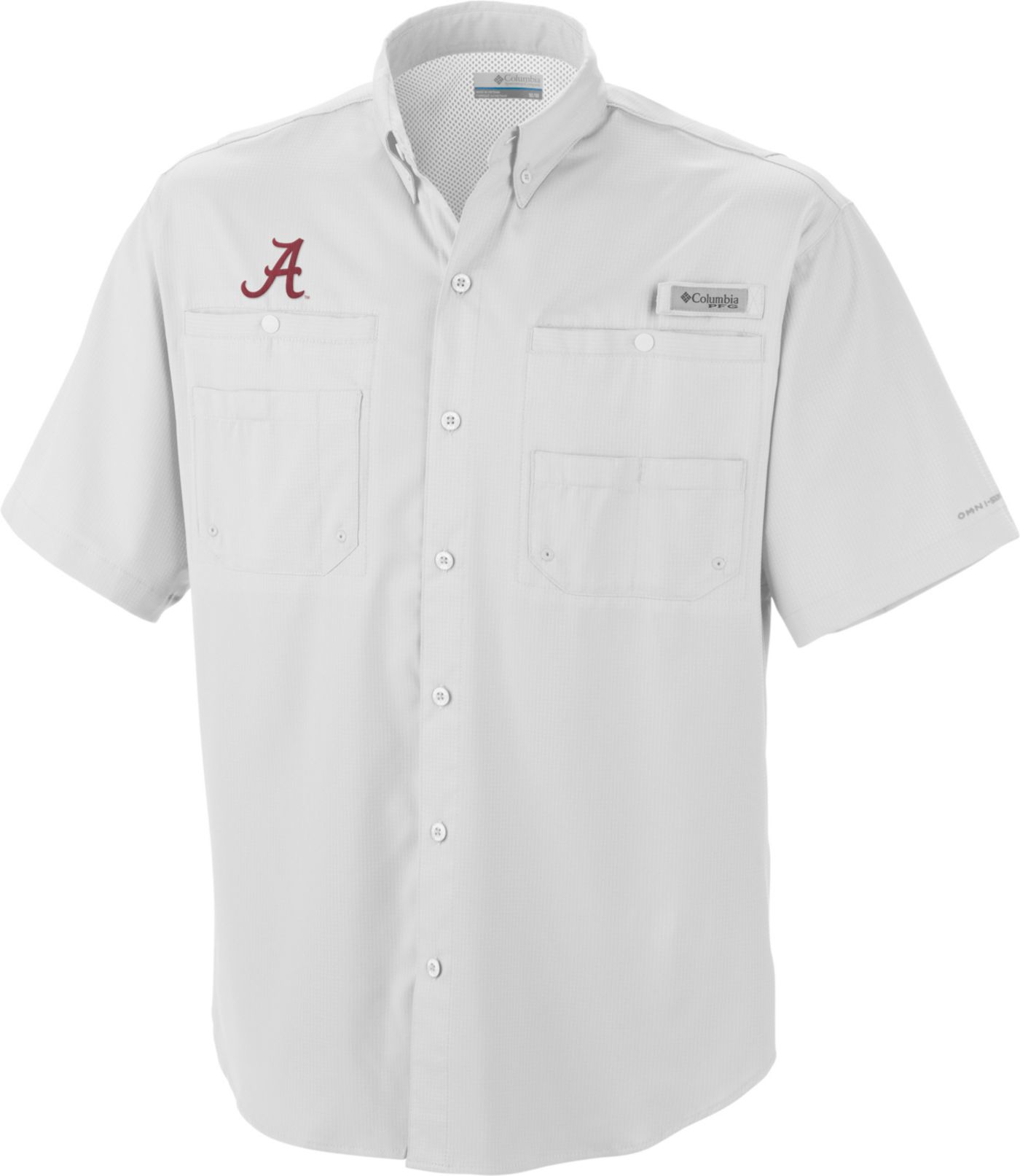 Columbia Men's Alabama Crimson Tide White Tamiami Performance Shirt