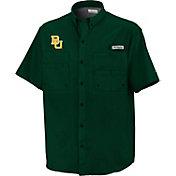 Columbia Baylor Bears Green Button-Down Performance Short Sleeve Shirt