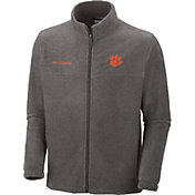 Columbia Men's Clemson Tigers Grey Flanker II Full-Zip Fleece Jacket