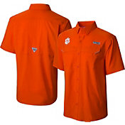 Columbia Men's Clemson Tigers Orange Low Drag Offshore Performance Shirt