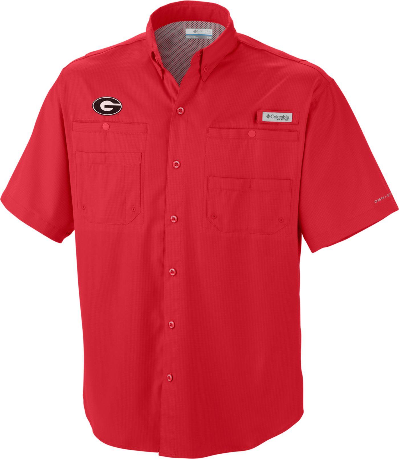 Columbia Men's Georgia Bulldogs Red Tamiami Performance Shirt