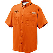 Columbia Men's Oklahoma State Cowboys Orange Tamiami Short Sleeve Performance Shirt