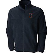 Columbia Men's Illinois Fighting Illini Grey Flaker II Full-Zip Fleece
