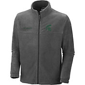 Columbia Men's Michigan State Spartans Charcoal Flanker Full-Zip Fleece Jacket
