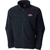 Columbia Men's Arkansas Razorbacks Grey Flaker II Full-Zip Fleece