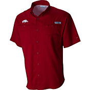 Columbia Men's Arkansas Razorbacks Cardinal Tamiami Performance Shirt