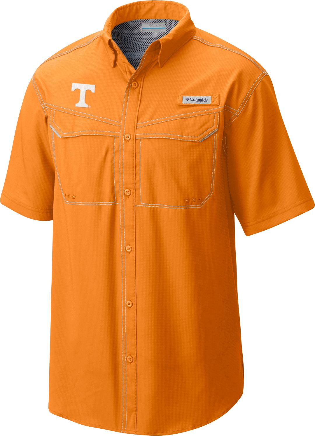 b100865d349 Columbia Men's Tennessee Volunteers Tennessee Orange Low Drag Offshore  Short Sleeve Shirt 1
