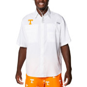 Columbia Men's Tennessee Volunteers White Tamiami Performance Short Sleeve Shirt
