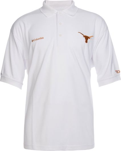 95e6aabd0e5 Columbia Men's Texas Longhorns Perfect Cast White Polo   Field & Stream