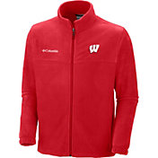 Columbia Men's Wisconsin Badgers Red Flanker II Full-Zip Fleece Jacket
