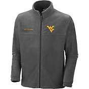 Columbia Men's West Virginia Mountaineers Charcoal Flanker Full-Zip Fleece Jacket