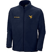 Columbia Men's West Virginia Mountaineers Blue Flanker Full-Zip Fleece Jacket