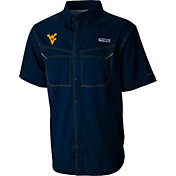 Columbia Men's West Virginia Mountaineers Blue Low Drag Offshore Performance Button Down Shirt