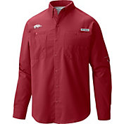 Columbia Men's Arkansas Razorbacks Cardinal Tamiami Long Sleeve Shirt