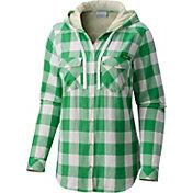 Columbia Women's Oregon Ducks Green Times Two Hooded Long Sleeve Shirt