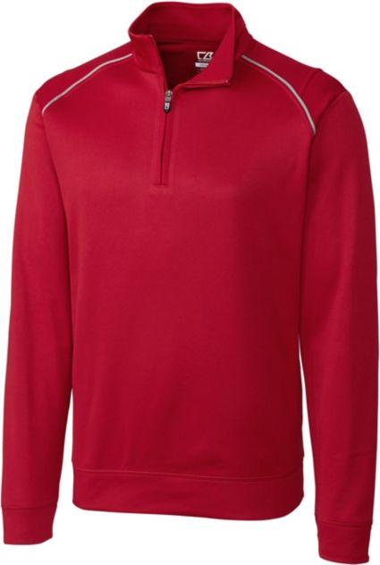 Cutter & Buck WeatherTec Ridge 1/4-Zip Long Sleeve Pullover - Big & Tall