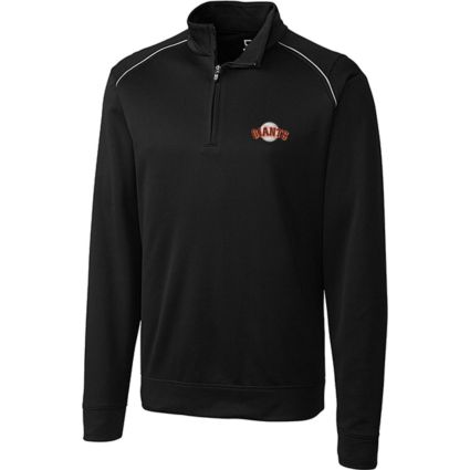 Cutter & Buck San Francisco Giants Black Ridge WeatherTec 1/2-Zip Pullover