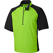 Cutter & Buck Men's CB WeatherTec Summit Quarter-Zip Short Sleeve Golf Pullover