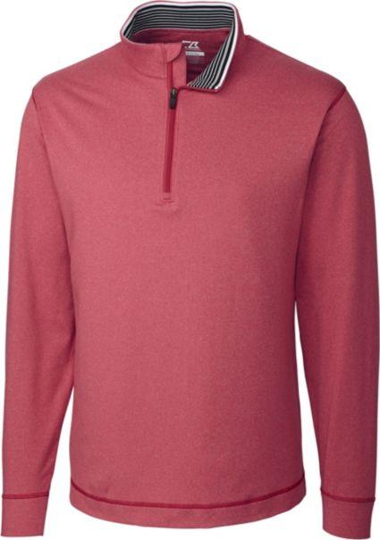 Cutter & Buck DryTec Topspin 1/4-Zip Long Sleeve Pullover