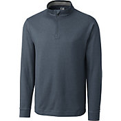 Cutter & Buck Men's CB DryTec Topspin Quarter-Zip Long Sleeve Golf Pullover