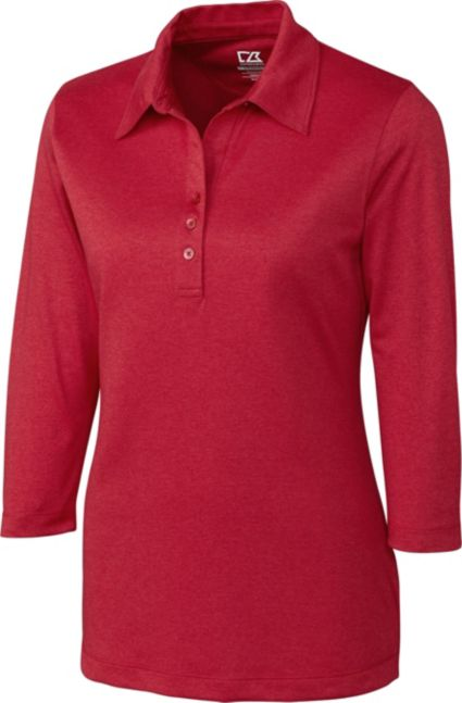 Cutter & Buck Women's DryTec 3/4-Sleeve Chelan Polo