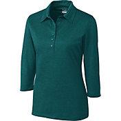 Cutter & Buck Women's DryTec Three-Quarter Sleeve Chelan Golf Polo