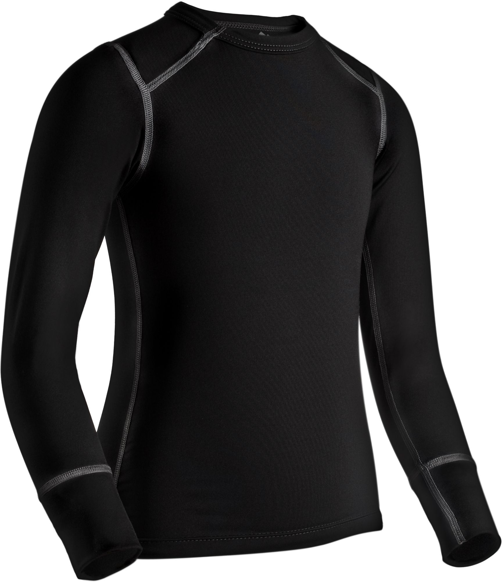 ColdPruf Youth Quest Performance Crew Base Layer Shirt, Size: XS, Black thumbnail