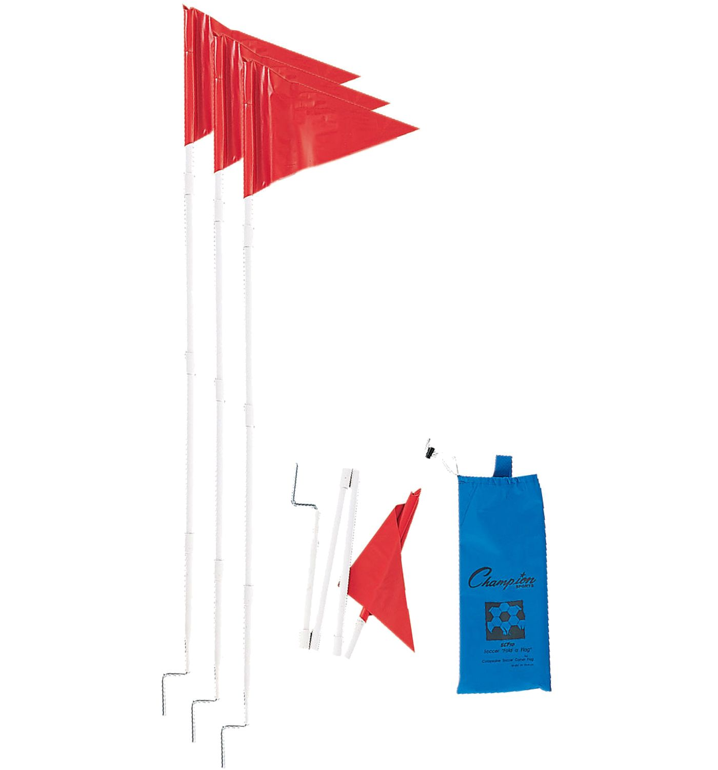 Champion Fold A Flag Soccer Corner Flags – 4 Pack