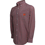 Campus Specialties Men's Maryland Terrapins Red Multi-Checkered Woven Long Sleeve Shirt