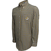 Campus Specialties Men's Missouri Tigers Black Multi-Checkered Woven Long Sleeve Shirt