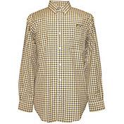 Campus Specialties Men's UT San Antonio Roadrunners Orange Multi-Checkered Woven Long Sleeve Shirt