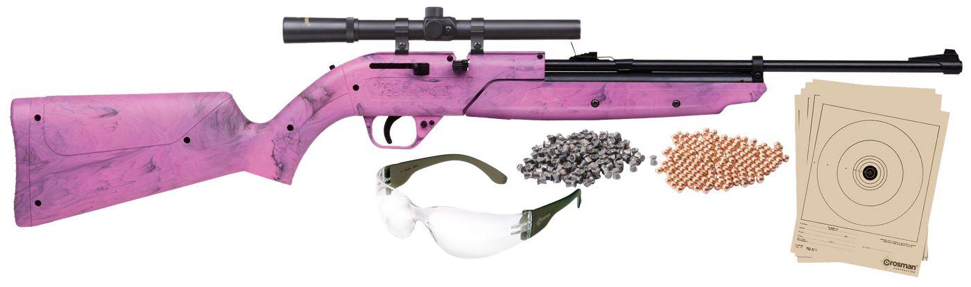 Crosman Pumpmaster 760BKT Pellet / BB Gun Package - Pink