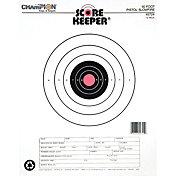 Champion Targets Scorekeeper 50ft Slow Fire Pistol Paper Target- 12 Pack