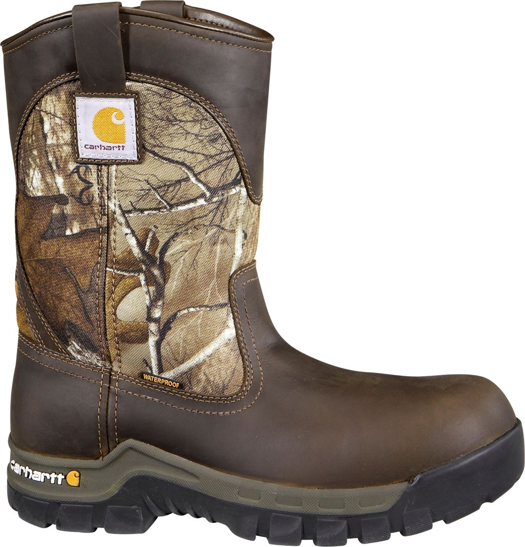 "80182fc5de1 Carhartt Men's Workflex 10"" Camo Waterproof Work Boots"