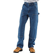 Carhartt Men's Double Front Washed Denim Logger Dungarees (Regular and Big & Tall)