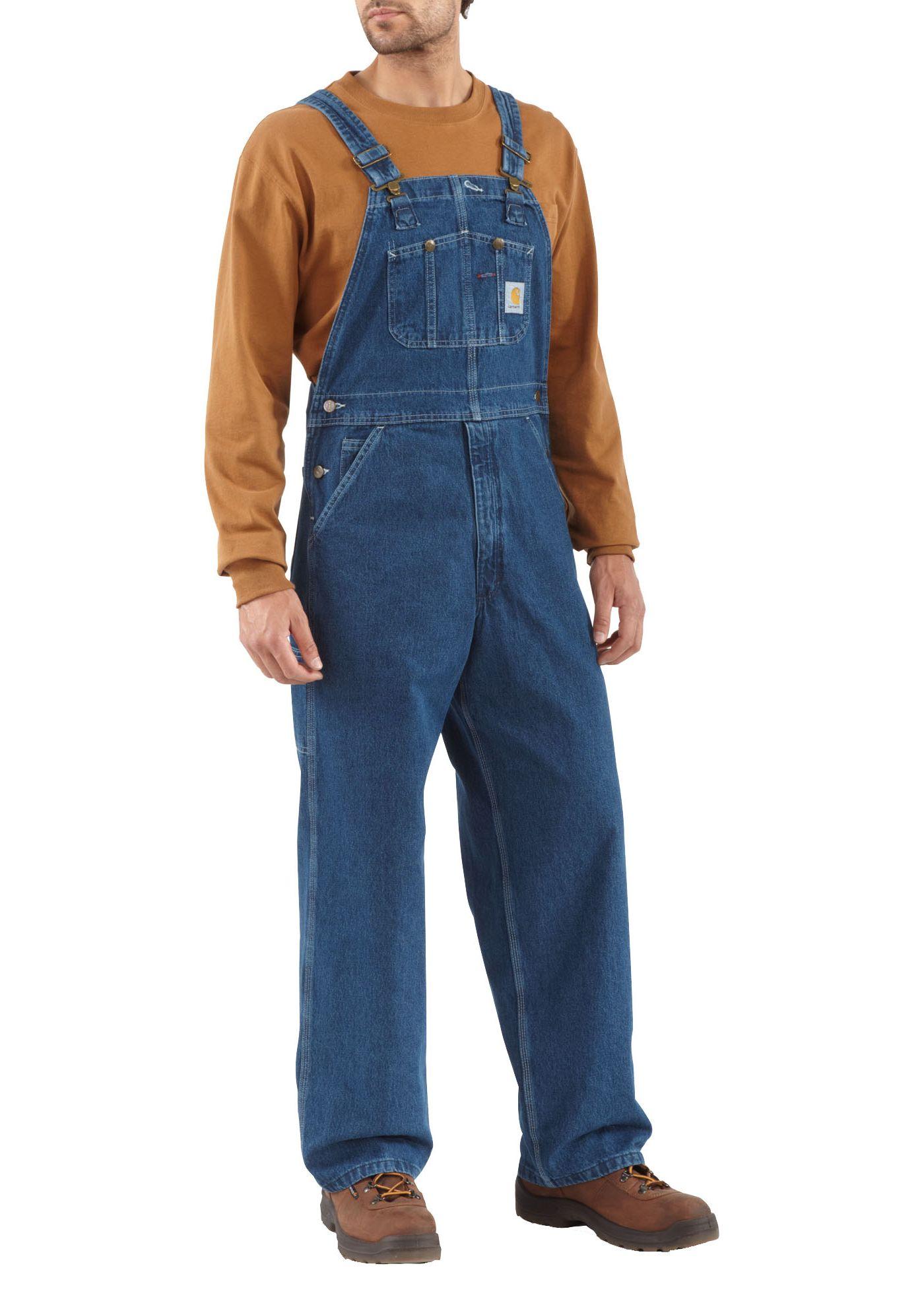 Carhartt Men's Washed Denim Bibs (Regular and Big & Tall)
