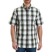 Carhartt Men's Essential Plaid Button Down Short Sleeve Shirt