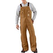 Carhartt Men's Zip-To-Waist Quilt Lined Duck Bib Overalls