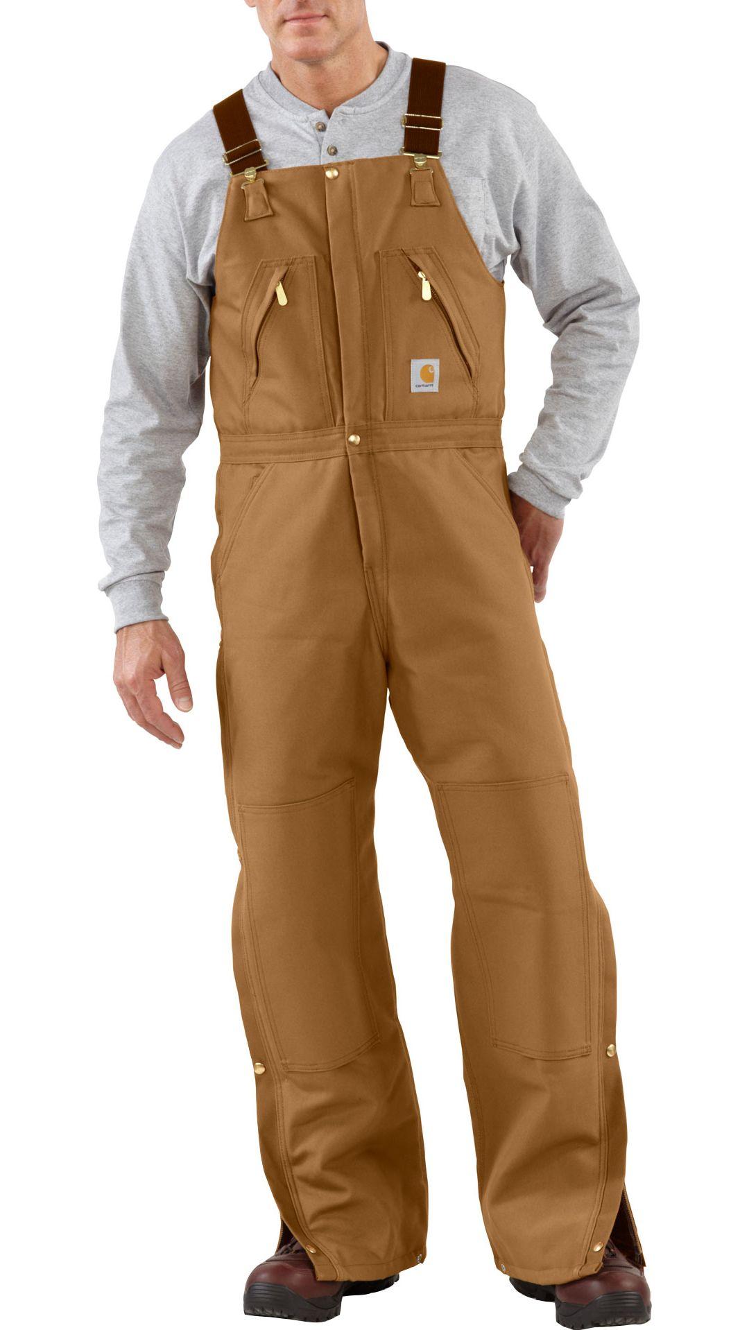 various styles lowest price amazing price Carhartt Men's Zip-To-Waist Quilt Lined Duck Bibs