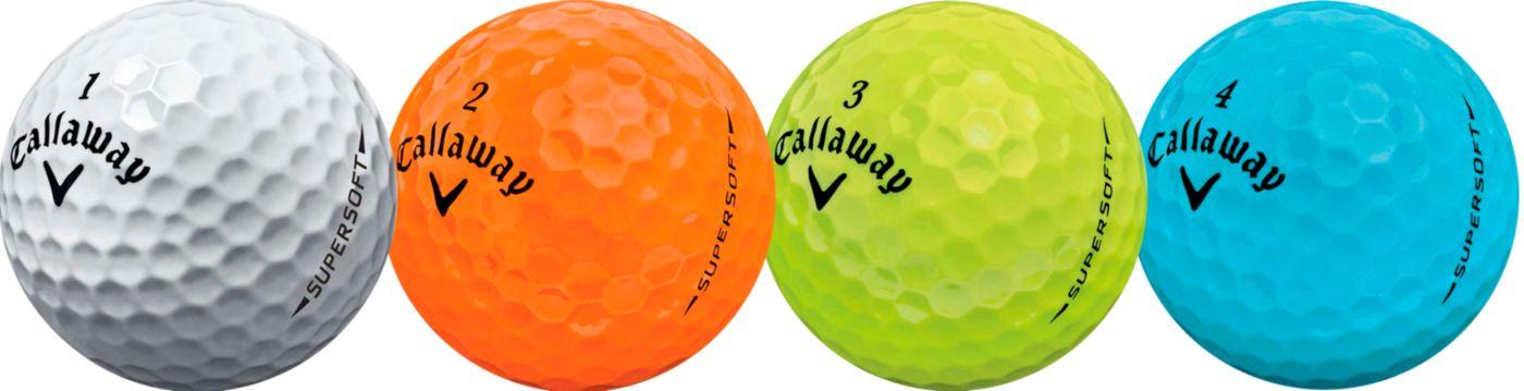 Callaway 2017 Supersoft Multi-Colored Golf Balls