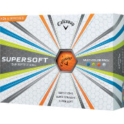Callaway 2017 Supersoft Multi-Colored Golf Balls