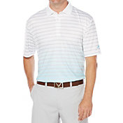Callaway Men's Gradient Heather Stripe Printed Golf Polo
