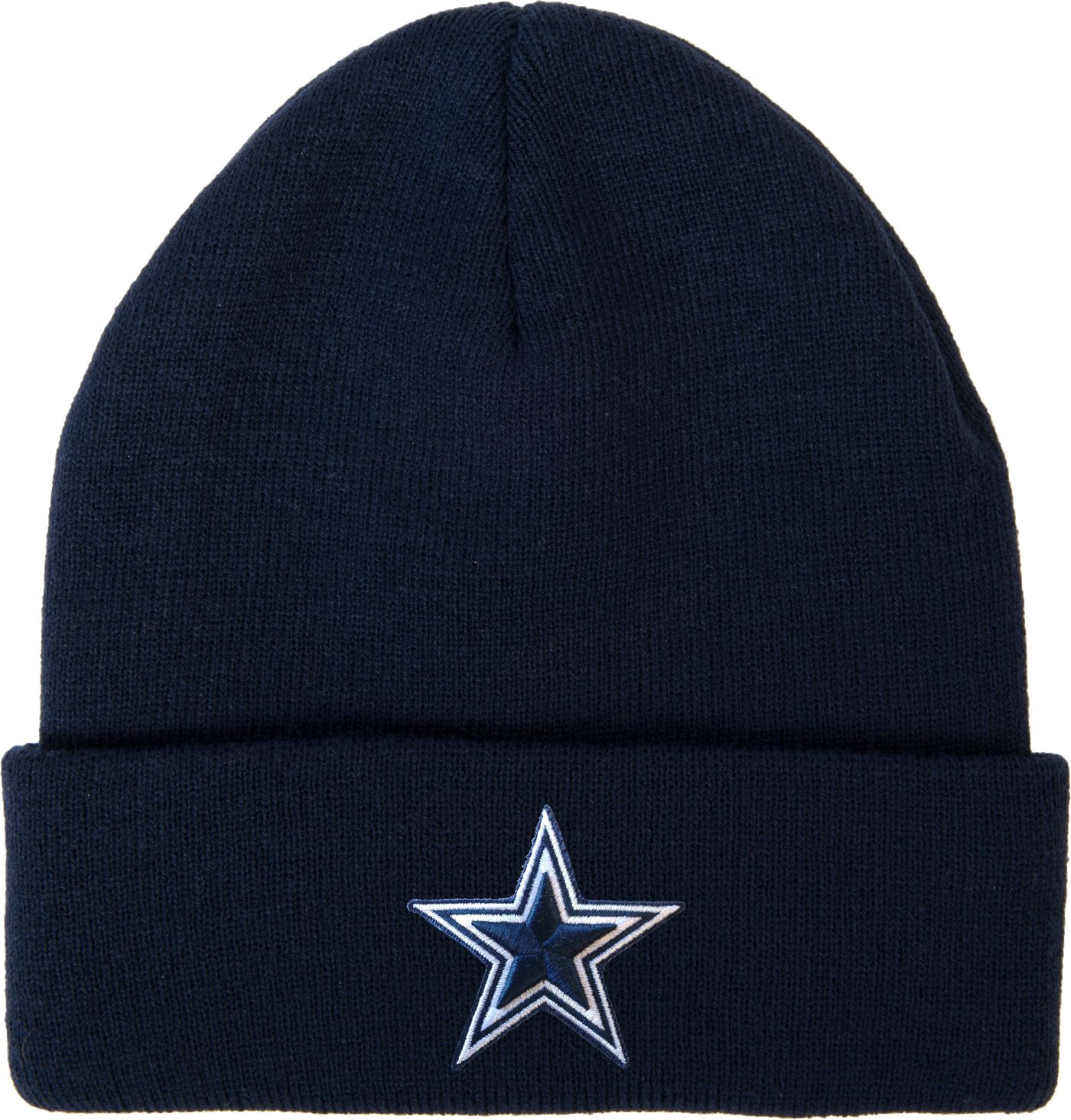 Dallas Cowboys Merchandising Men's Basic Cuff Navy Knit
